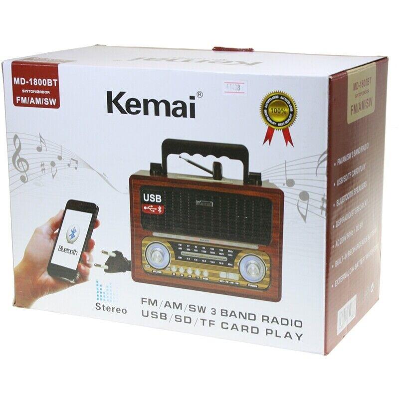 s l1600 - Radio altavoz portatil con Bluetooth USB SD/TF 220W O Pilas estilo retro
