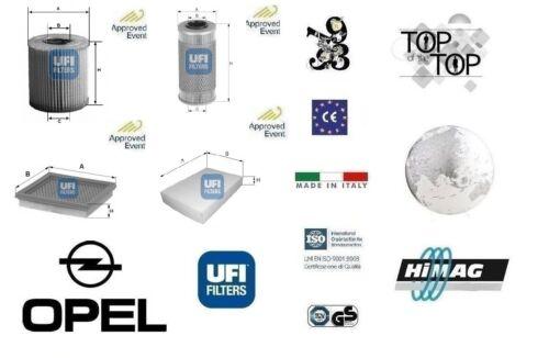Kit filtri tagliando UFI Opel Signum 2.2 DTI 16v 92 Kw 125 Hp