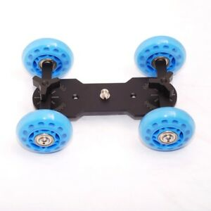 Video Truck Dolly Kit Skater Wheel for DSLR Camera Table Top Compact
