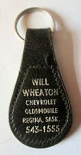 VINTAGE WILL WHEATON CHEV OLDS REGINA SASKATCHEWAN KEYRING/KEYCHAIN/FOB