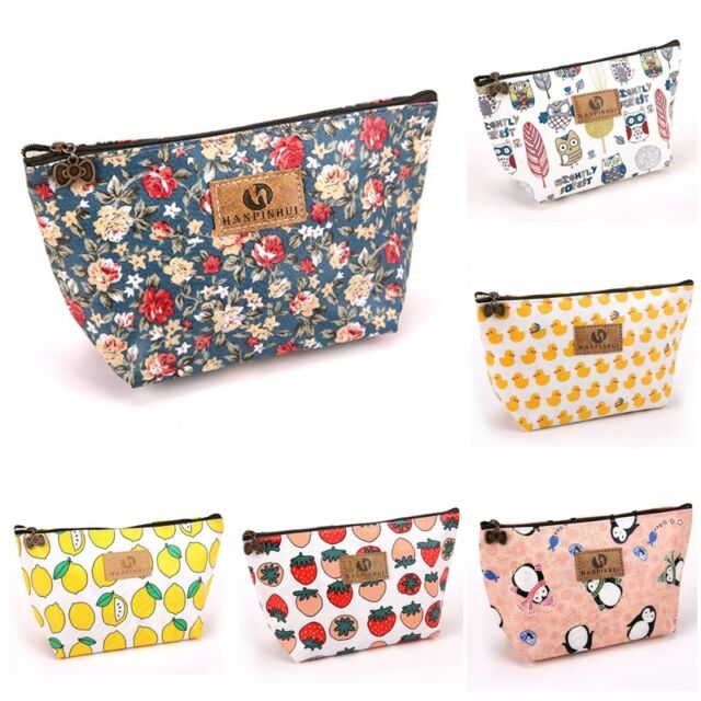 Portable Floral Makeup Travel Cosmetic Bag Toiletry Case Pouch Wash Organizer ND
