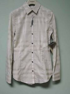 Burberry-London-AUTH-NWT-Trench-Tan-Plaid-Nova-Check-Print-Shirt-Blouse-2-IT36