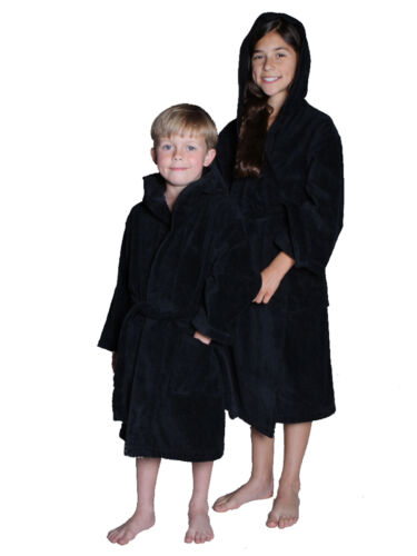 Embroidery available byLora Velour Cotton Terry Hooded Kids Robe