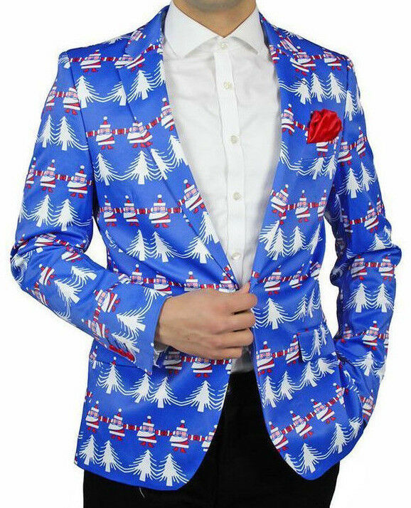 Suslo Couture Holiday Christmas Elf Blazer Sport Coat Ugly Sweater M(40) & L(42)