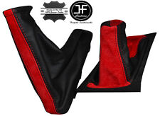 RED SUEDE BLACK LEATHER GAITERS SET FOR VAUXHALL OPEL TIGRA TWINTOP 04-2009