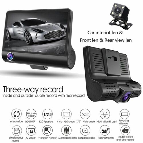 BMW Mini Cooper 3 Cámara en Tablero Con Dvr Cctv Video Record HD 1080P Sensor G
