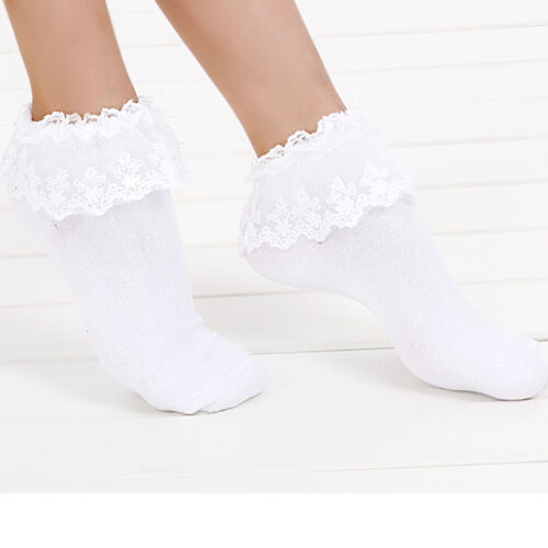 Brand Ladies Lace Socks Girl Ankle Sweet Frilly Cute Ruffle