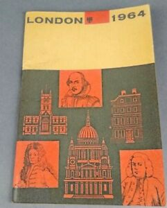 Vtg-1964-London-Travel-Tourist-Guide-Brochure-Sightseers-Map-amp-Places-Interest