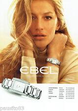PUBLICITE ADVERTISING  046  2009  Ebel montre Brasilia & Gisle Bundchen