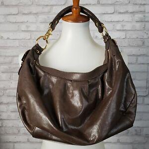 Badgley Mishka brown leather handbag hobo style