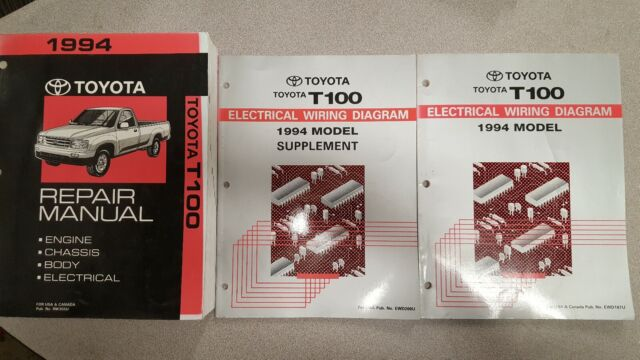 1994 Toyota T100 Repair Manual And Wire Diagram