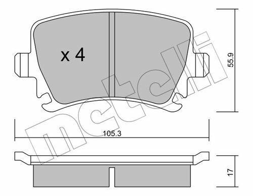 Bremsbeläge HA für SEAT ALTEA,EXEO,LEON,TOLEDO III; SKODA OCTAVIA II,SUPERB II