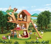 Calico Critters Adventure Tree House Kids Toys Birthday Gift Collection Games on sale