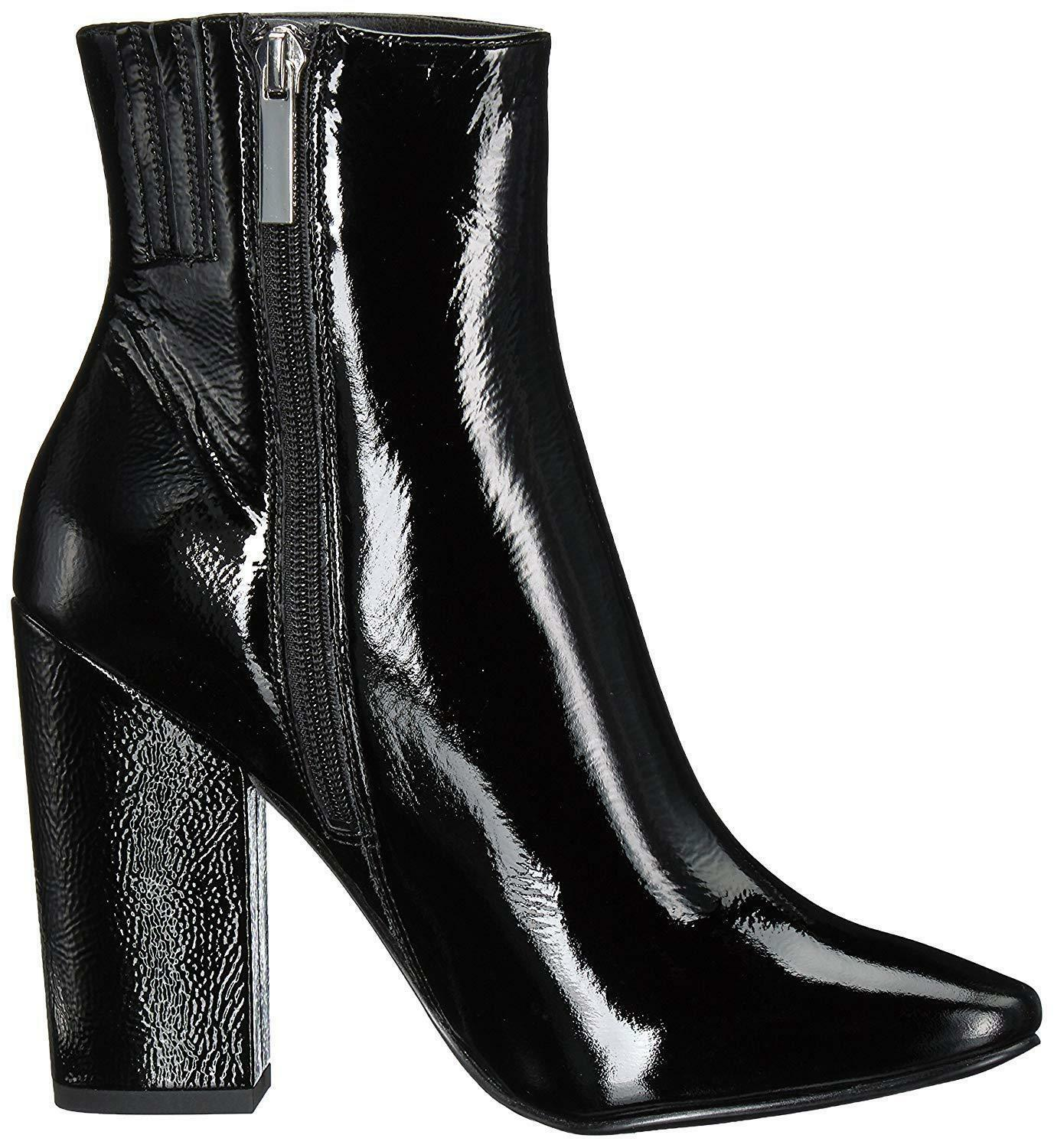 Kendall+ Kylie Haedyn 2 Patent Leather Boot black size 7.5