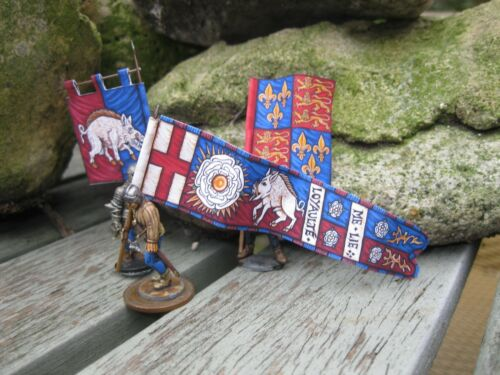 28mm Medieval Wars of the Roses Paper Flags for King Richard III Yorkist