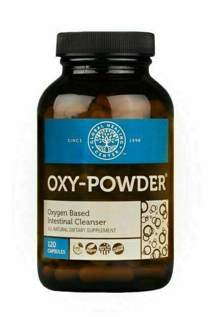 Global Healing Center Oxy-Powder Intestinal Cleanser Capsules - 120 Count