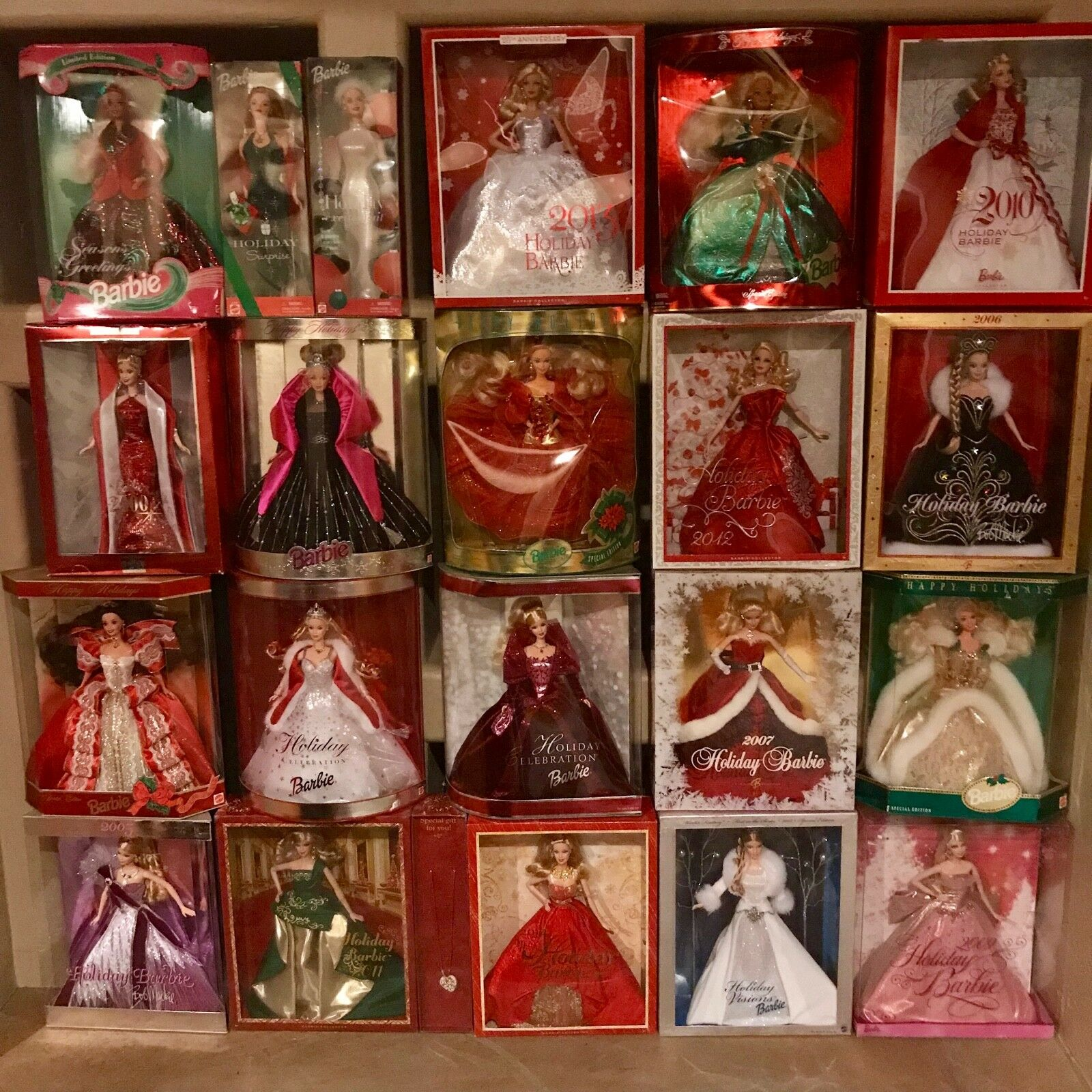 Lote de 20 coleccionista Vacaciones Barbie 1993 1994 1997 1998 2000 2001 2002 2004-más