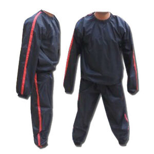 Details About Sweat Sauna Suit Gym Suits Heavy Duty Anti Rip Weight Loss Exercise M 4xl