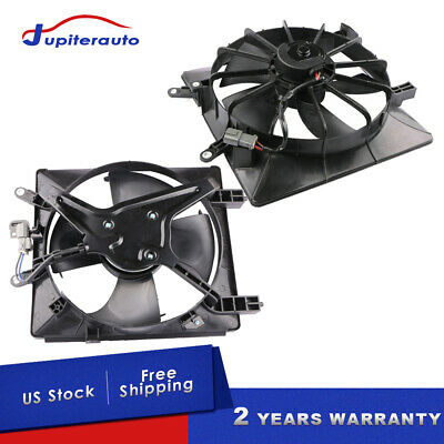 AC Cooling Fan Radiator Condenser For 2001-2005 Honda Civic 1.7 L Right Side