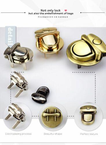 2Set Metal Turn Lock Snap For Handbag Women Bag Twist Locks Clasps Closure DIY