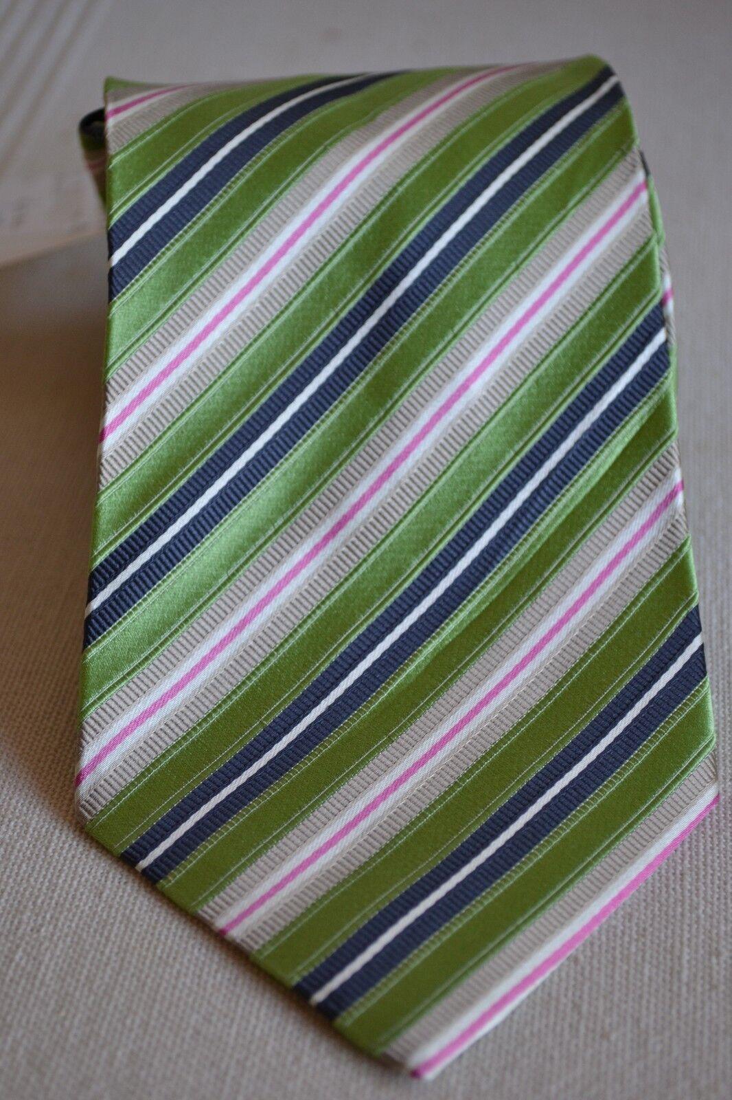 Zegna Designer Krawatte CORBATA NEU 95% Seide silk TIE grün grau weiß Rosa NEW | Neuheit Spielzeug