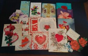Vintage-Greeting-Card-Lot-Norcross-Valentines-Day-Mothers-Day-Easter-Poem-Book