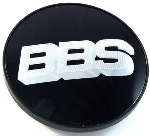 1x BBS Felgendeckel Symbolscheibe Emblem Schwarz Silber 56mm BB0924257 NEU ohne