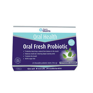 Henry-Blooms-Oral-Health-Oral-Fresh-Probiotic-Chewable-Peppermint-x-24-Pack