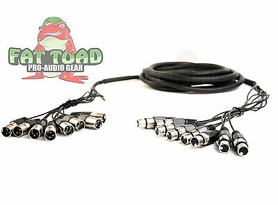 8 Channel XLR Snake Cable Patch - 10Ft Live Recording Studio PA DJ Microphone