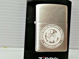 2005 zippo0 silver plated lighter(case only-without insert)-US National Intellig