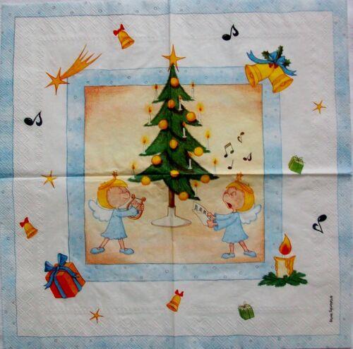 Vielseidig Verlag Musizierende Engel unterm Weihnachtsbaum 20 Servietten