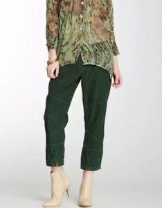bfc83c90f79a Da-nang Womens Cropped Corduroy Capri Pants Forest Green Size Small ...