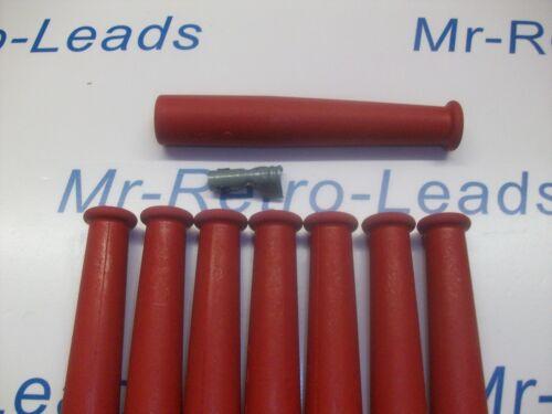 Botas de goma roja de encendido Bujía /& Terminales x 8 Set Completo V8 Motor Kit Car