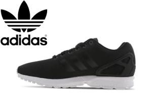 2020-Adidas-Originals-ZX-Flux-Trainer-Homme-UK-Tailles-6-12-Noir-Blanc