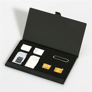 Mobile-Safe-Case-Standard-SIM-Micro-Nano-SIM-Card-Holders-Metal-Carte-SD-Sliver