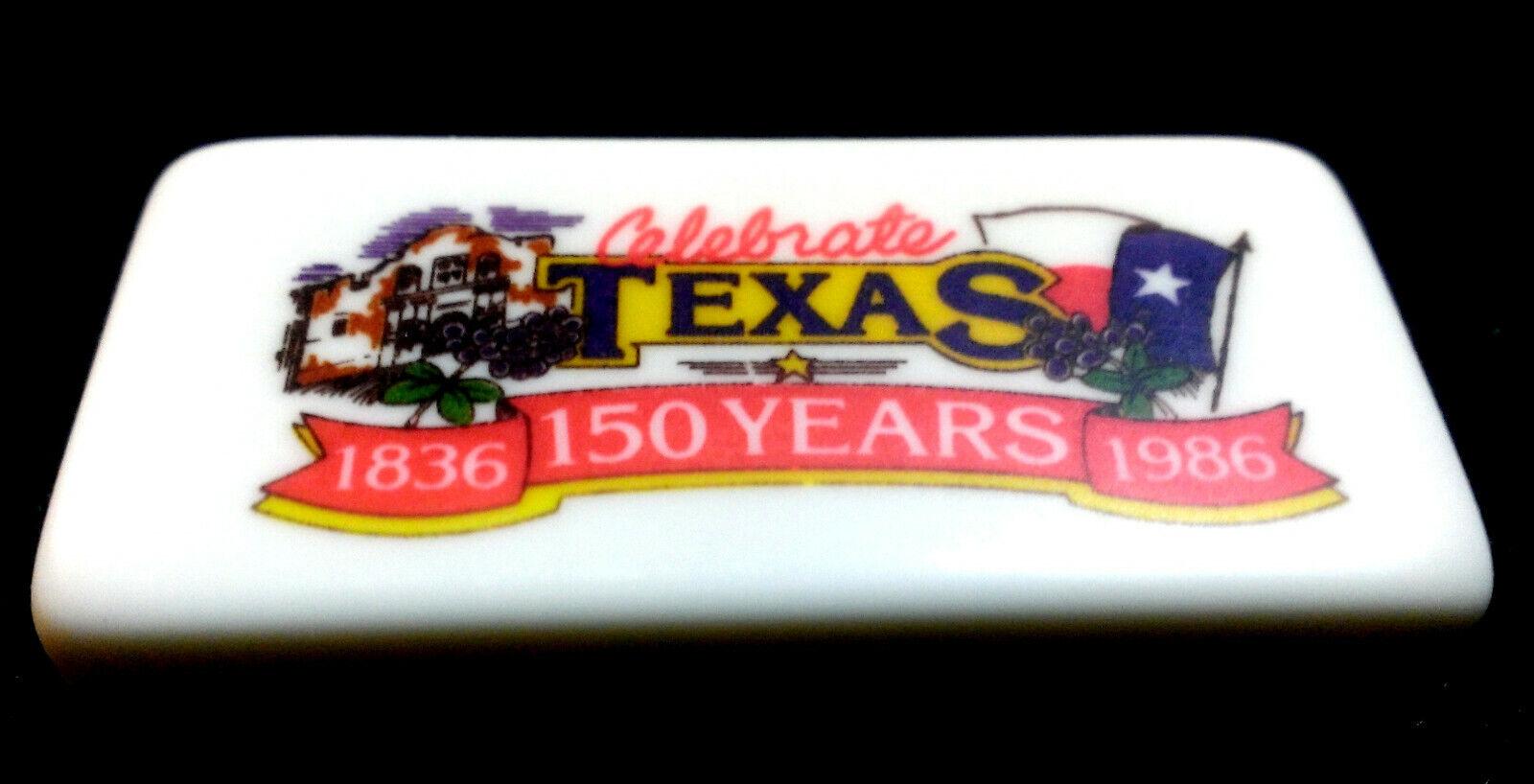Vintage Puremco marblelike Standard 616 dominos célébrer Texas 1836 - 1986
