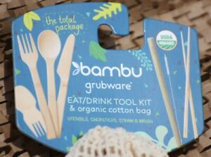 Bambu-Travel-Set-Bamboo-EAT-DRINK-KIT-Lunch-To-Go-Utensils-Straw-chop-sticks