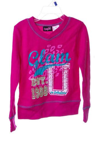Candy Girl Girls Glam U Long Sleeved Shirt Top 6 6X 10 12 Pink Blue Teal NEW