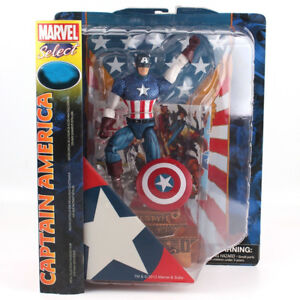 Marvel-Select-Captain-America-PVC-Action-Figure-Collectible-Model-Toy