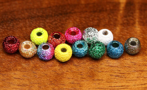 Gritty BRASS BEADS ø 3,8mm Hareline 20 st texturée laiton Beads pink Grit