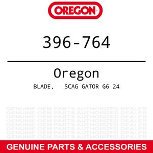 "Oregon 396-764 Gator G6 Blades Scag Hustler Exmark w// 72/"" Deck 105-7784 9-PACK"