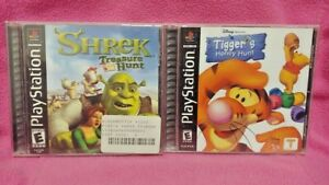 Shrek Hunt + Disney Tigger's Honey -  Playstation 1 2 PS1 PS2 Game Lot Complete