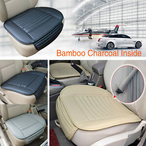 Car Front Seats Cover PU Leather Bamboo Single Bucket Seat Protector ...