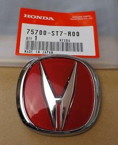 JDM Honda Civic 07-11 Type-R Red Rear Badge Emblem OEM Genuine TypeR Type R