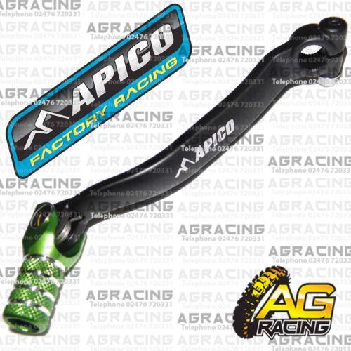 Apico Black Green Gear Pedal Lever Shifter For Kawasaki KXF 250 2012 Motocross