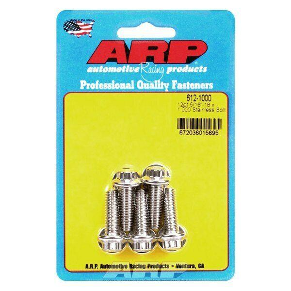 12pt. ARP S//S Bolt Kit 5//16-18 x 1.000 612-1000 5