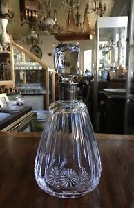 Glass-Decanter-with-Silver-Mount-Silver-835er-1976-with-grafur-26-cm-High