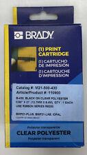 1 New Brady Label Cartridge M21 500 430 Blackclear Polyester 12 X 21 Bmp21
