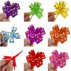 10/50/100pcs Ribbon Wedding Flower Pull Bows Birthday Party Gift Present Decor