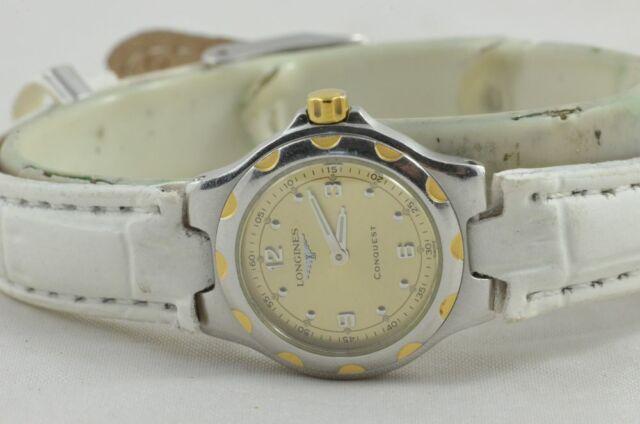 Longines Conquest Women's Watch Steel/Gold Quartz 25MM 4025 Vintage Nice